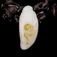 新疆和田玉洒金皮一级白玉籽玉挂件 多子多福 36克