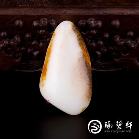 【琢艺轩】新疆和田籽玉双色皮一级白玉籽玉 原石 63.7克