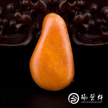 【琢艺轩】新疆和田玉黄玉籽玉 原石 34.4克
