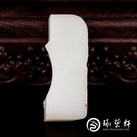 【琢艺轩】新疆和田玉洒金皮白玉籽玉 原石 135.4克