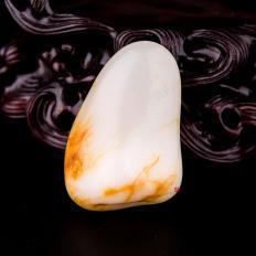 新疆和田玉黄皮羊脂白玉籽玉 原石 19.7克
