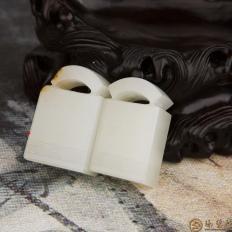 新疆和田玉红皮一级白玉籽玉挂件 瓦当印章 13.9克;17.2克 可单卖