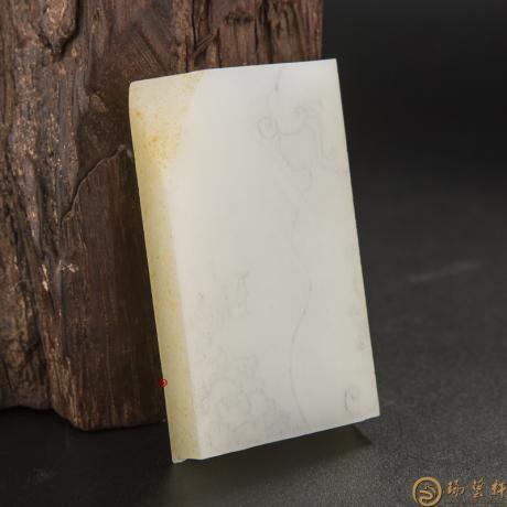 【琢艺轩】新疆和田玉洒金皮白玉籽玉 原料 88.2克