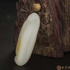 新疆和田玉黄皮一级白玉籽玉 安居乐业(客户代卖) 18克