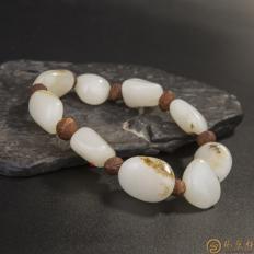 新疆和田玉羊脂白玉籽玉 手链 47.5克 (客户代卖)