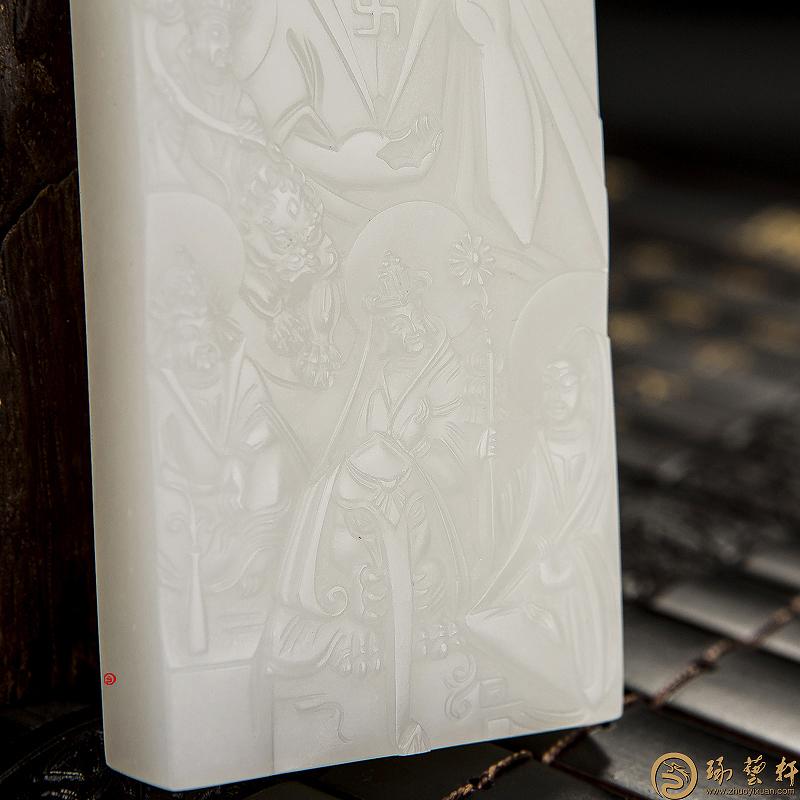 佛会_ 新疆和田白皮羊脂白玉籽玉牌子  -穆宇静玉雕工作室