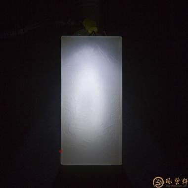 悠然_ 新疆和田洒金皮一级白籽玉牌子  -穆宇静玉雕工作室
