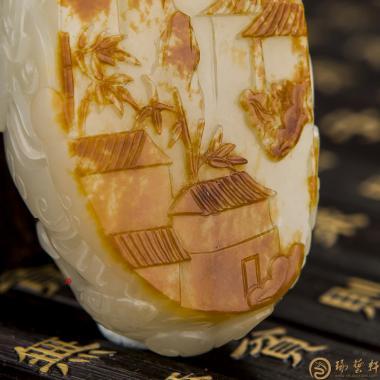 消失的图腾_ 新疆和田红皮白玉籽玉把件  -穆宇静玉雕工作室