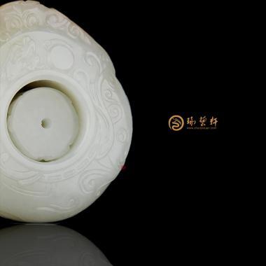 大权在握_ 新疆和田红皮白玉籽玉扳指  133.6克-穆宇静玉雕工作室
