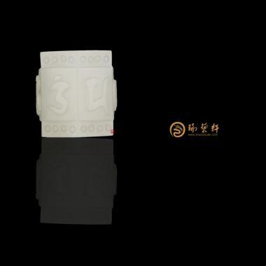 黄财神_ 新疆和田红皮白玉籽玉扳指  87.6克-穆宇静玉雕工作室