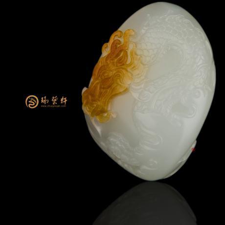 新疆和田黄沁白玉籽玉挂件