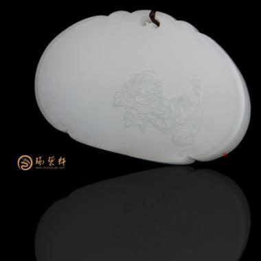 新疆和田一级白籽玉挂件 富贵平安 36.5克