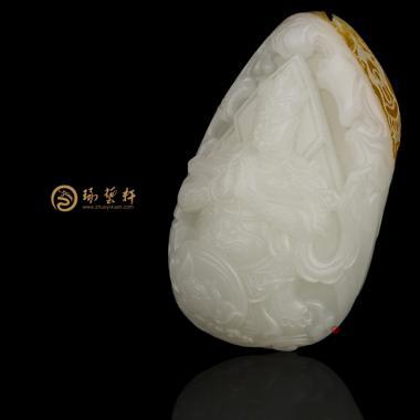 韦陀菩萨_ 新疆和田红皮羊脂白玉把件  109.5克-穆宇静玉雕工作室