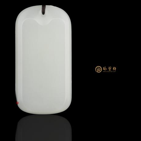【琢艺轩】新疆和田白皮白玉籽玉牌子 平安无事牌 35克