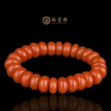 【琢艺轩】凉山南红玛瑙手串 算盘珠手串 46.8克