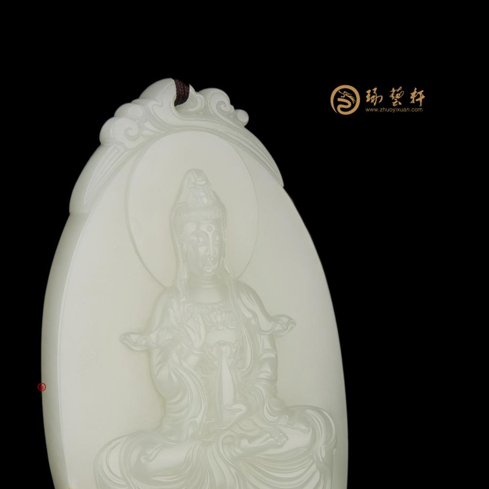 观音_ 新疆和田黄皮白玉籽牌子  -穆宇静玉雕工作室