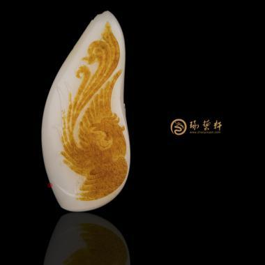 新疆和田红皮羊脂白籽玉挂件 涅磐 24克