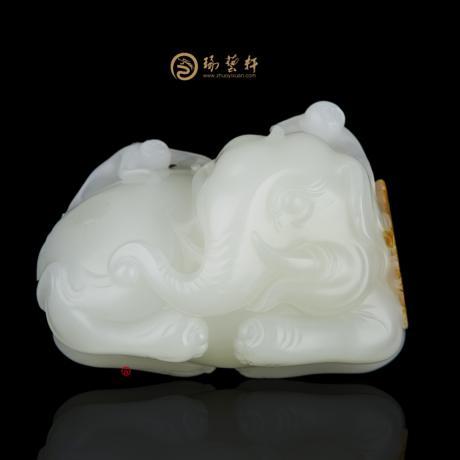 【琢艺轩】赵显志 新疆和田红皮一级白籽玉把件 封侯拜相 258克
