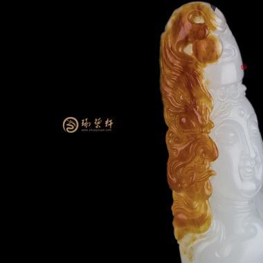 转念之间_ 新疆和田红沁羊脂白籽玉挂件  8.3克-穆宇静玉雕工作室
