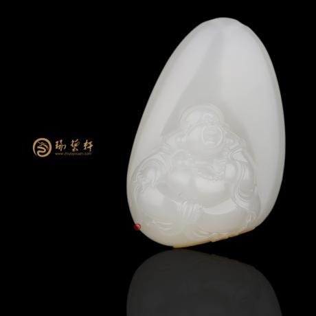 【琢艺轩】新疆和田红皮白玉籽玉挂件 弥勒佛 29克