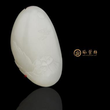 新疆和田玉白皮白玉籽玉挂件 山水 28克