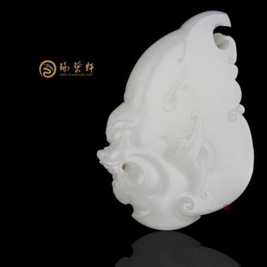 新疆和田一级白籽玉挂件 威 52.3克